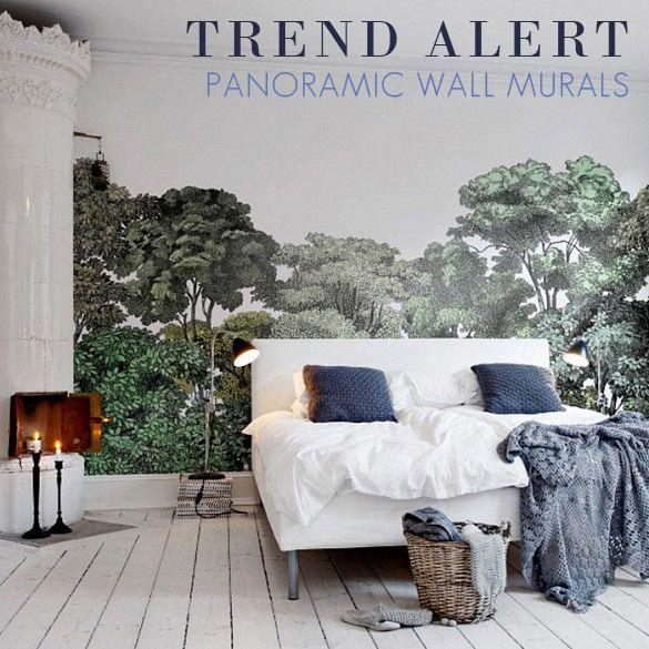 panoramic wallpaper murals  Trend Alert: Panoramic Wall Murals – Ourso Designs