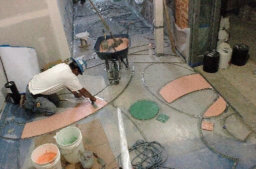 History Lesson Terrazzo Flooring Ourso Designs - How are terrazzo floors made