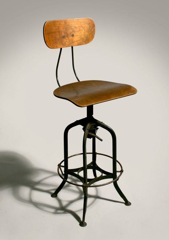 History Lesson Toledo Drafting Stool Ourso Designs