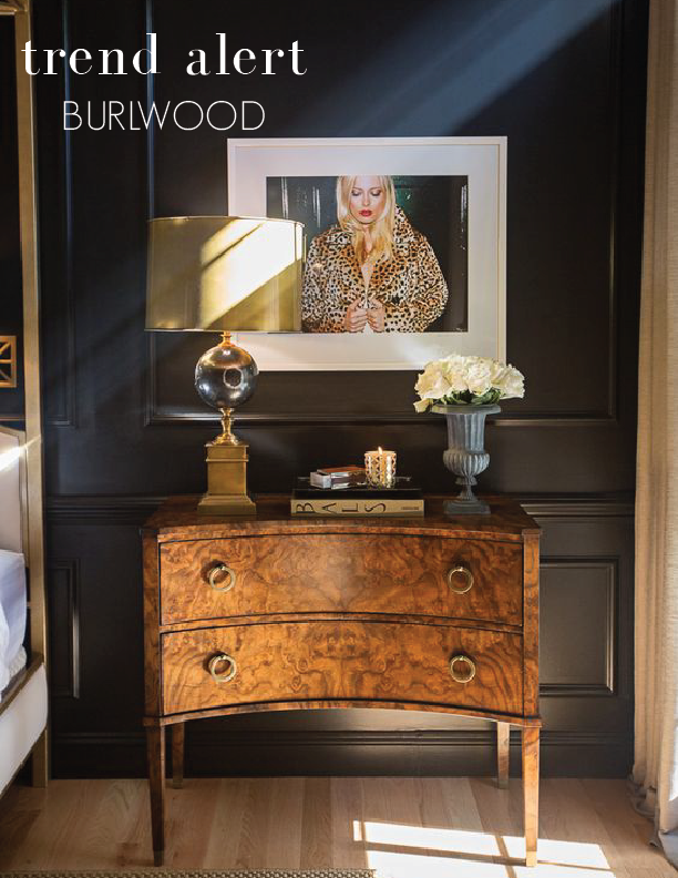 Trend alert burl wood furniture ourso designs